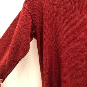 Sparkle and Fade red sweater